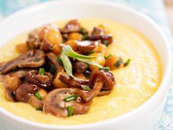 Creamy Polenta with Mushroom Ragout